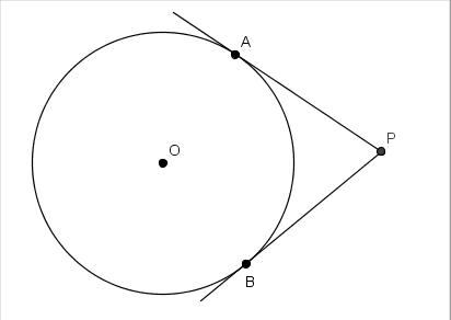 Gbc teorema tangentes congruentes matetam for Exterior a la circunferencia